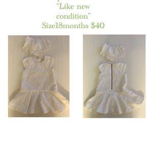 Mini white lace Kade spade dress